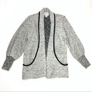 Vintage Sideffects Heather Grey Tweed Sweater Sz M